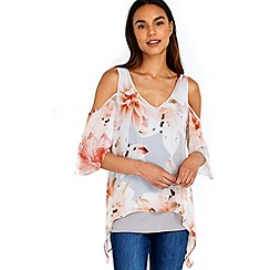 Wallis - Lily cold shoulder overlay top