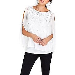 Wallis - White heavy embellished top