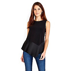 Wallis - Black peplum top