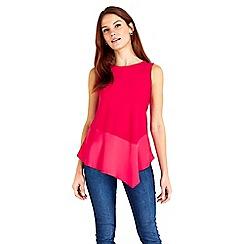 Wallis - Pink peplum top