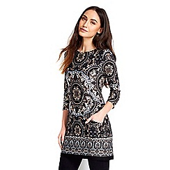Wallis - Navy printed pocket tunic