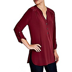 Wallis - Plain berry studded ity shirt