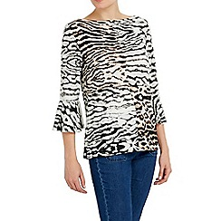 Wallis - Animal printed flute sleeve top