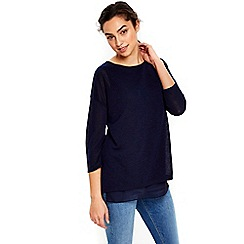 Wallis - Navy lightweight knitty top