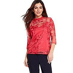 Wallis - Orange lace detail top