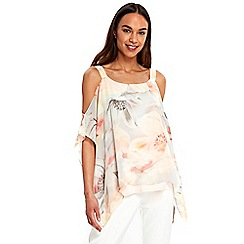 Wallis - Floral print overlayer top