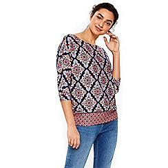 Wallis - Navy printed top