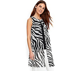 Wallis - Zebra print split front top