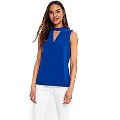 Wallis - Blue sleeveless choker top