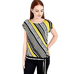 Wallis - Lime diagonal stripe top