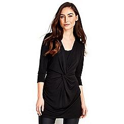 Wallis - Black long sleeve knot top