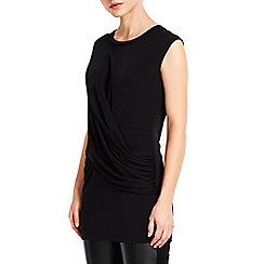 Wallis - Black soft drape top