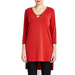 Wallis - Rust stud v-neck tunic top