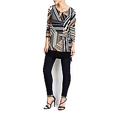 Wallis - Cream striped tunic top