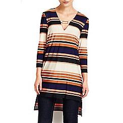 Wallis - Stripe bar detail tunic top