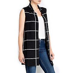 Wallis - Large check sleeveless jacket
