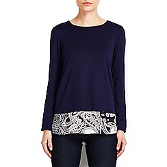Wallis - Navy paisley print shirt