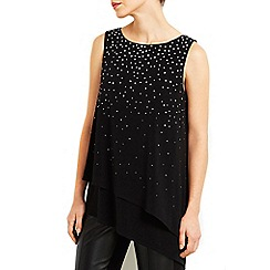 Wallis - Black asymmetric layer top