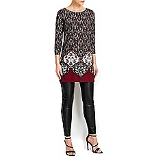 Wallis - Claret embellished tunic top