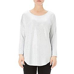 Wallis - Silver 3/4 sleeve top