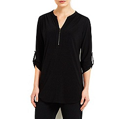 Wallis - Black button shirt