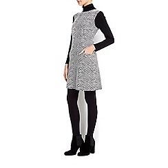 Wallis - Monochrome printed roll neck tunic dress