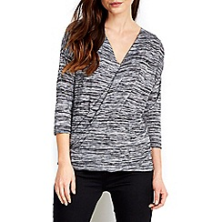 Wallis - Grey textured knit top