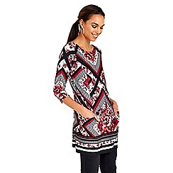 Wallis - Floral border printed tunic top