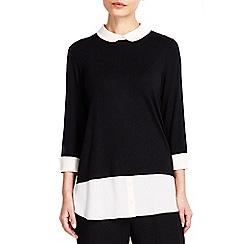 Wallis - Blush shirt hem detail top
