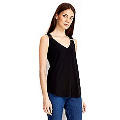 Wallis - Black trim vest top