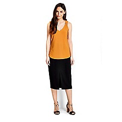 Wallis - Ochre metal trim vest top