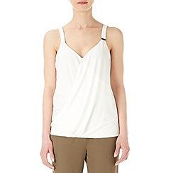 Wallis - Ivory wrap camisole