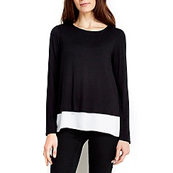 Wallis - Black zip back top