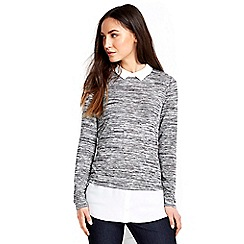 Wallis - Grey knitted 2in1 shirt