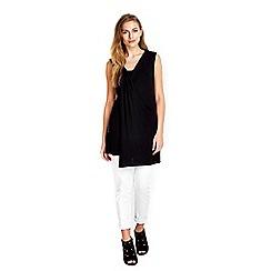 Wallis - Black sleeveless tunic top
