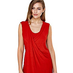Wallis - Orange sleeveless tunic top