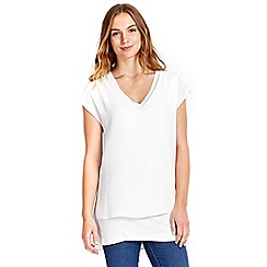 Wallis - Cream v-neck top