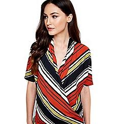 Wallis - Multi stripe wrap top