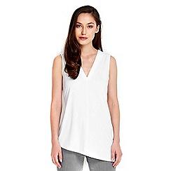 Wallis - Ivory v-neck tie waist vest