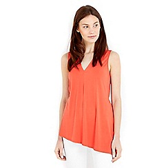 Wallis - Orange v neck tie waist vest