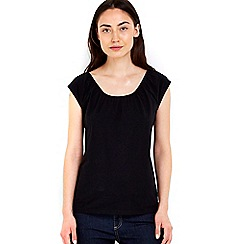 Wallis - Black cotton bardot top