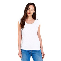 Wallis - White cotton bardot top