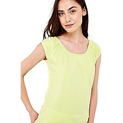 Wallis - Lime cotton bardot top