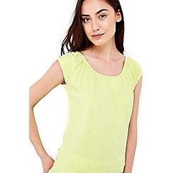 Wallis - Lime cotton bardot top