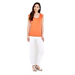 Wallis - Coral cotton bardot top