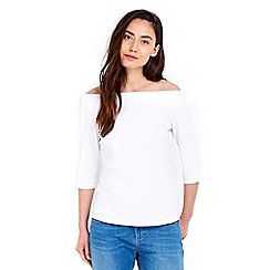 Wallis - White off shoulder bardot top
