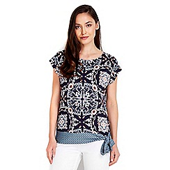 Wallis - Floral printed tie side top