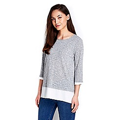 Wallis - Grey knitted top