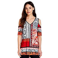 Wallis - Paisley printed top