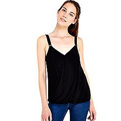 Wallis - Black trim wrap camisole